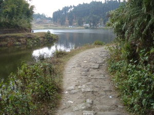 Path around Lake Sumendu, Mirik