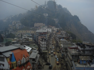 Gangtok, view from the cable car